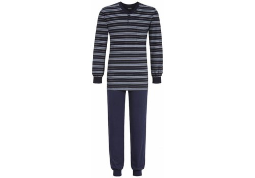 Ringella Pyjama  Night Blue Stripe met knoop