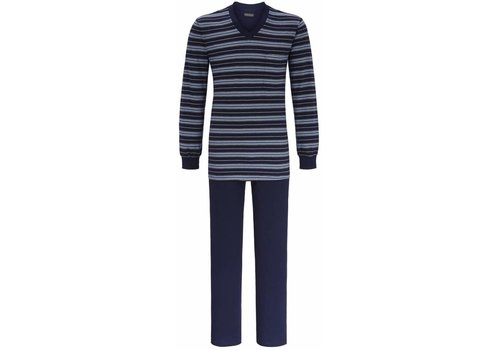 Ringella Pyjama  Night Blue Stripe met v-hals