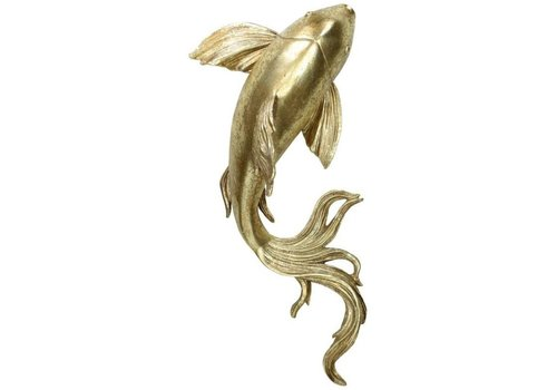 Kersten BV Ornament Fish Gold 9x20x36cm