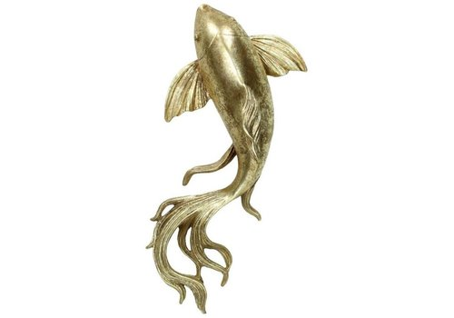 Kersten BV Ornament Fish Gold 9x15x33cm