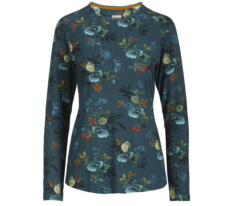 Top Tommy Leafy Stitch Small Blue
