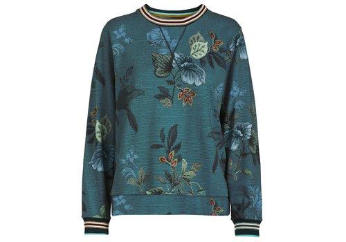 Pip Studio Trui Tulipa Leafy Stitch Big Blue