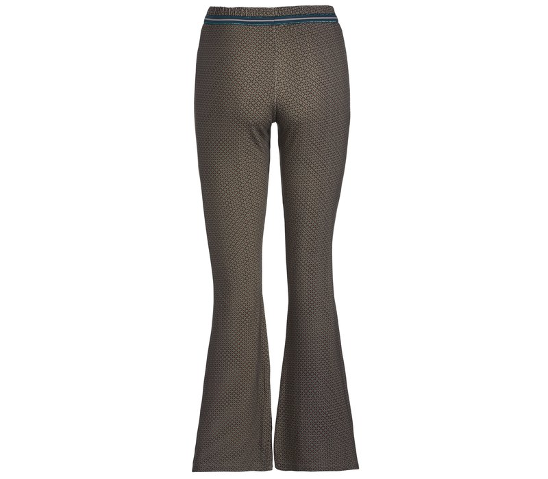 Broek Blair Cross Stitch Blue
