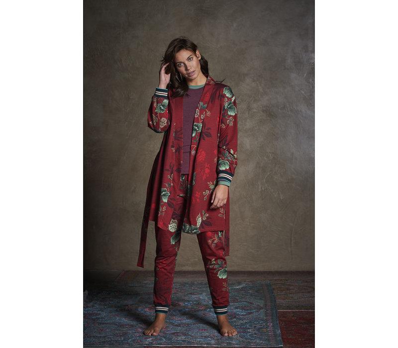 Kimono Ninny Leafy Stritch Big Red