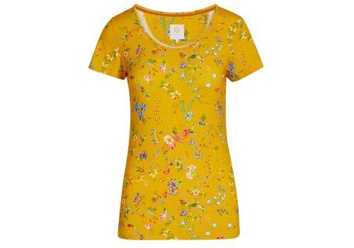 Pip Studio Top korte mouw petites fleurs geel