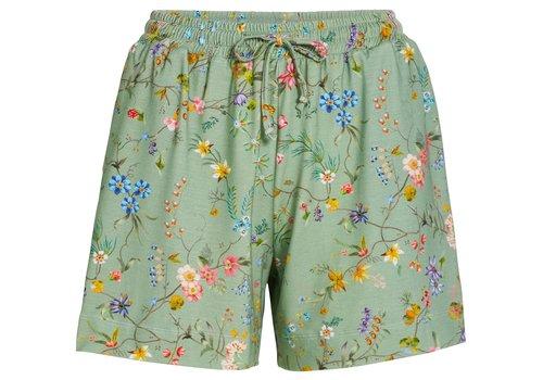 Pip Studio Korte broek petites fleurs groen