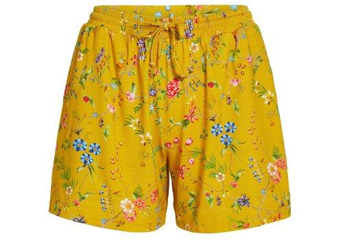 Pip Studio Korte broek petites fleurs geel