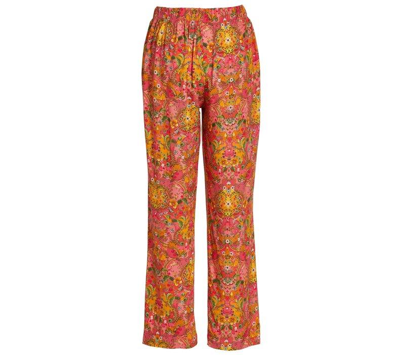 Lange broek wijd pippadour roze