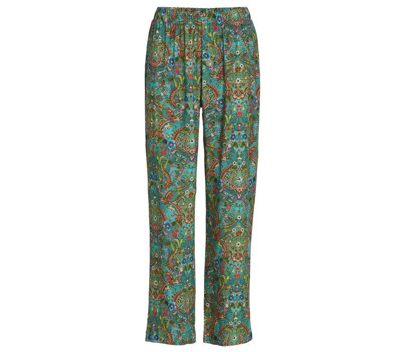 Lange broek wijd pippadour groen