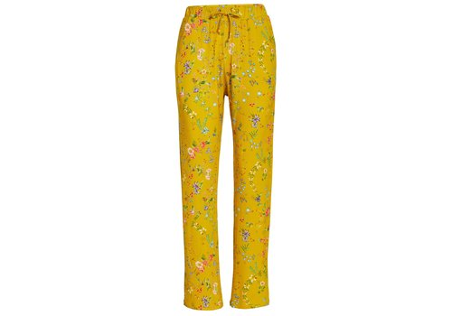Pip Studio Lange broek petites fleurs geel
