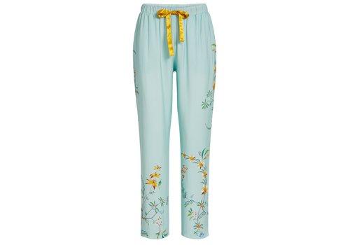 Pip Studio Lange broek wijd grand fleur blauw