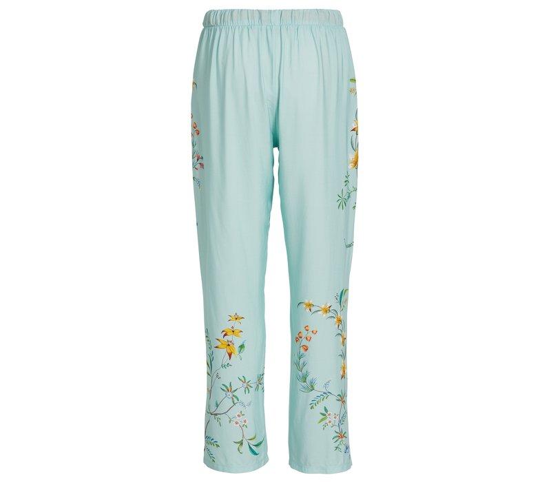 Lange broek wijd grand fleur blauw