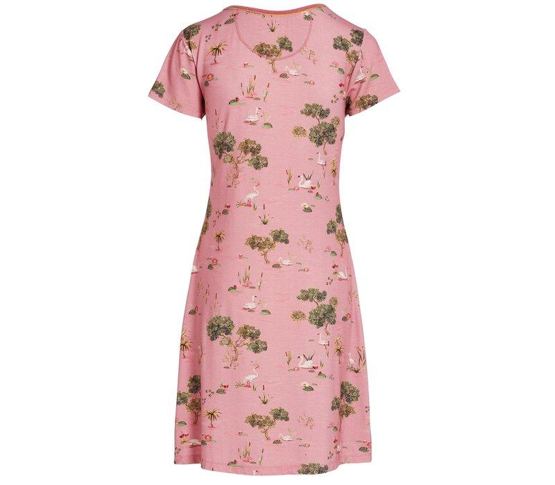 Nachthemd swan lake roze
