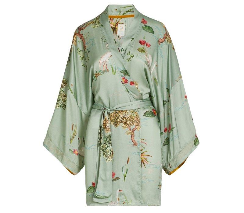 Kimono swan lake big licht groen