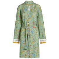 Kimono petites fleurs groen