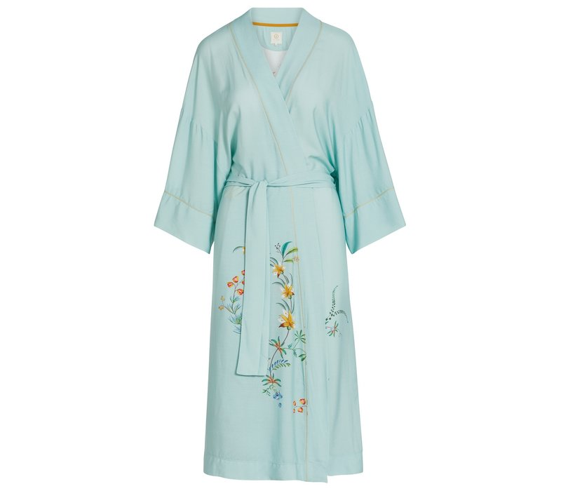 Kimono grand fleur blauw
