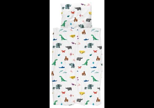 Snurk Beddengoed Dekbedovertrek Paper Zoo