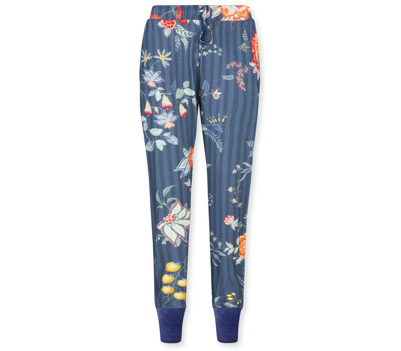 Trousers Bobien Flower Festival Dark Blue