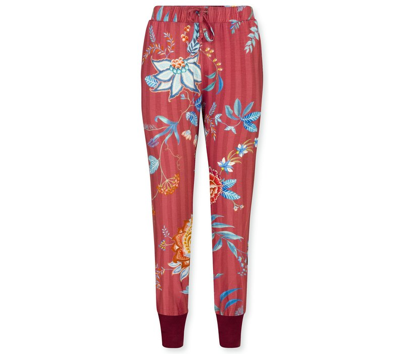 Trousers Bobien Flower Festival Big Red