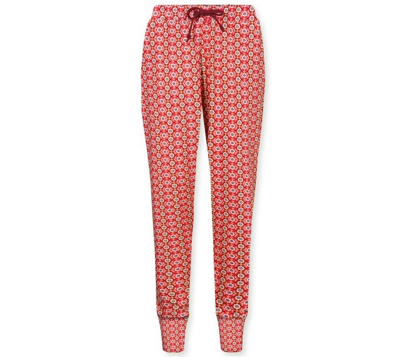 Trousers Bobien Star Flower Red