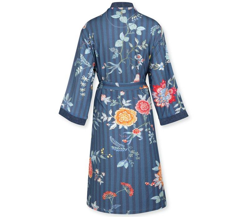 Kimono Naomi  Flower Festival Dark Blue