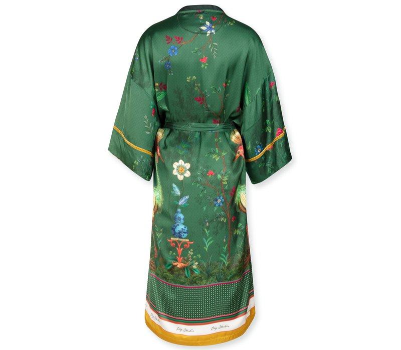 Kimono Noelle Birds In Love Green