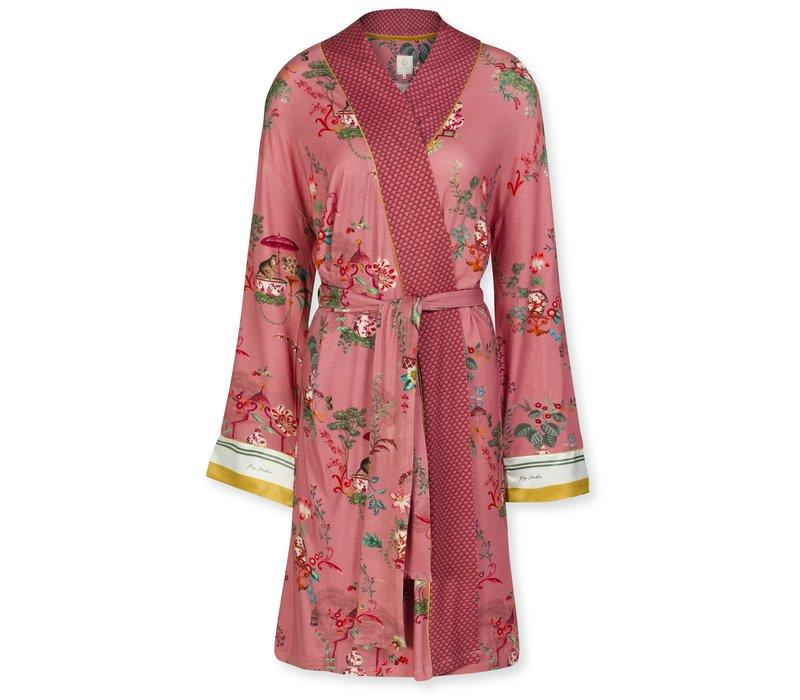 Kimono Nisha Chinese Porcelain Pink