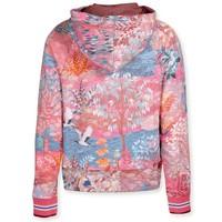 Hooded Sweater Garden Big Pink