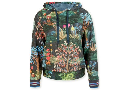 Pip Studio Hooded Sweater Tamara Garden Big Blue