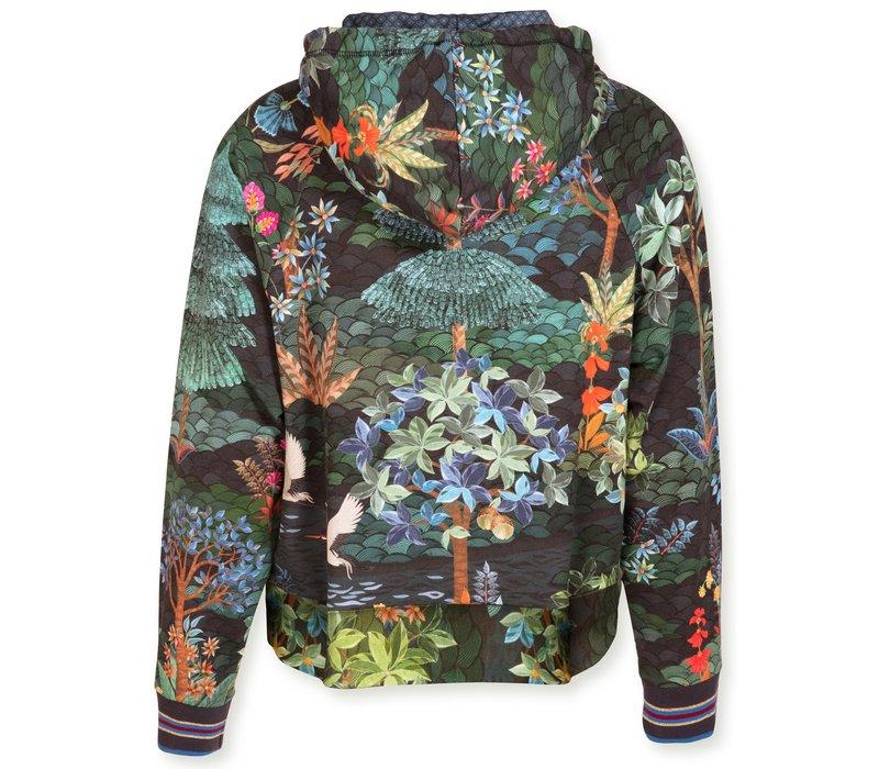 Hooded Sweater Tamara Garden Big Blue