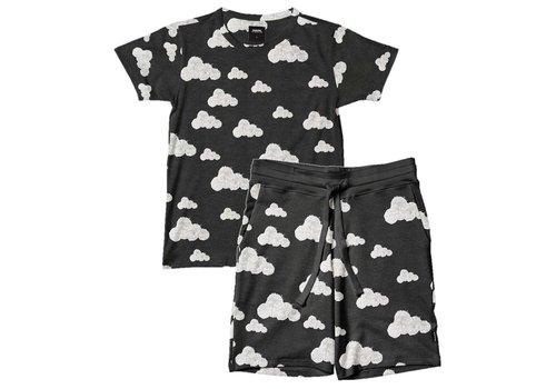 Snurk Homewear Heren Shortama Cloud Black