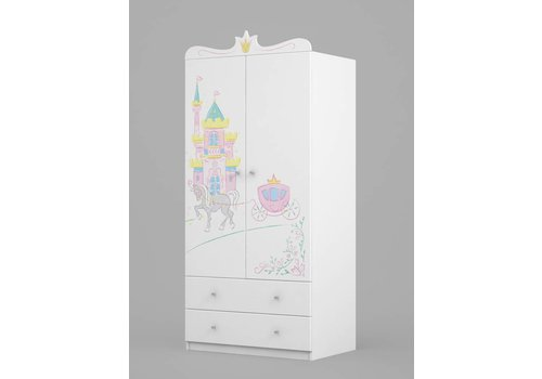 Kinderkamer kledingkast Magic Princess 90