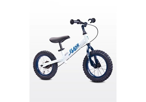 Metalen loopfiets Flash - wit