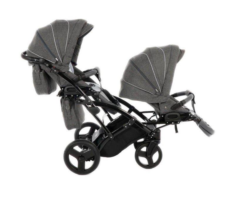 Tweeling kinderwagen - Acoustic Duo Slim 8