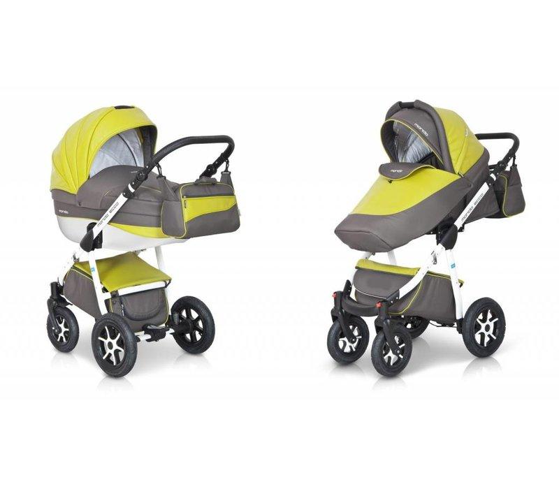 Kinderwagen combi Mondo Ecco - Olijf