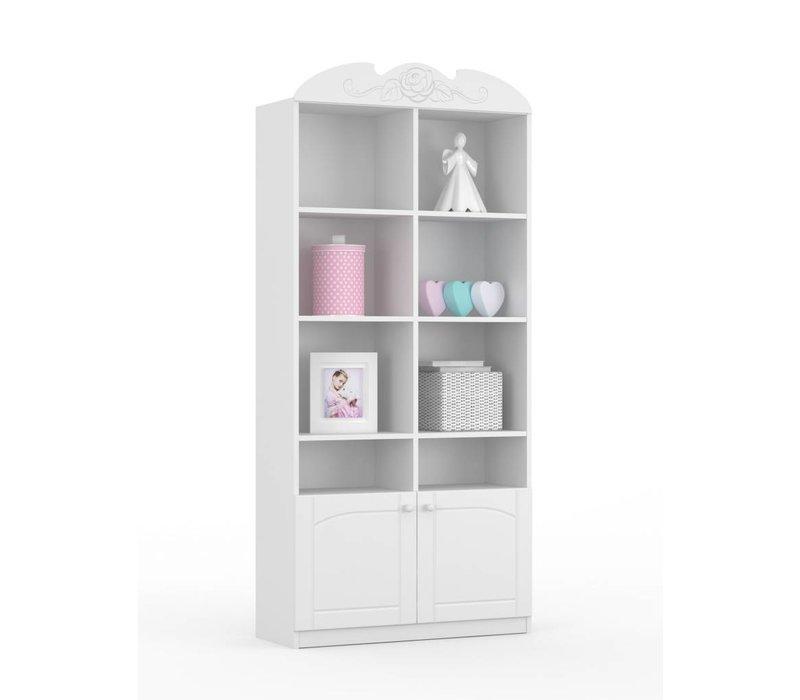 Boekenkast Bianco Fiori 90