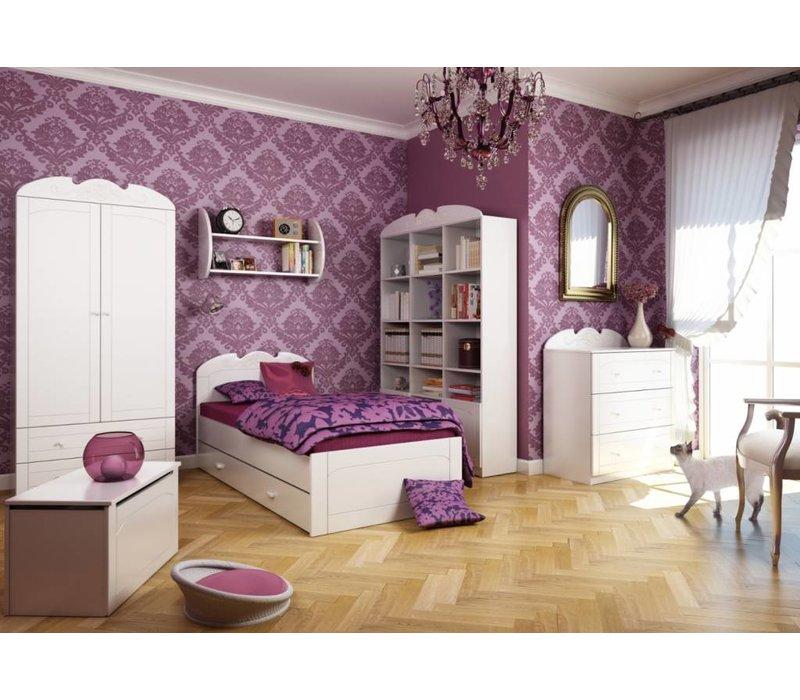 Boekenkast Bianco Fiori 135