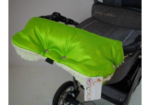 Universele handschoenen voor de kinderwagen - groen