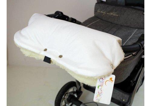 Universele handschoenen voor de kinderwagen - wit