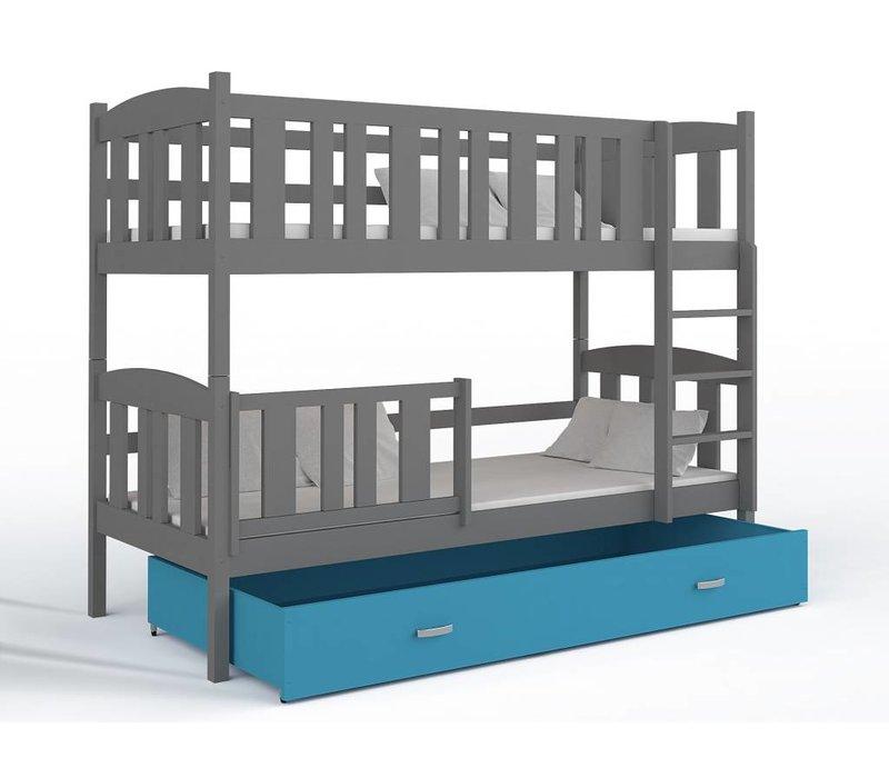 Stapelbed Kyan - grijs-blauw