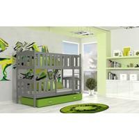 Stapelbed Kyan - grijs-groen