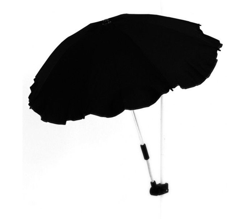 Ronde parasol kinderwagen - zwart