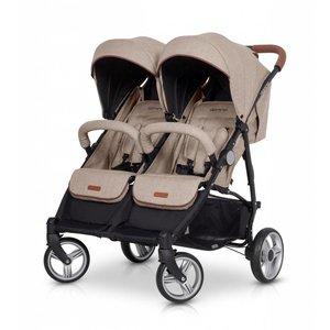 Tweeling wandelwagen - buggy Domino - beige
