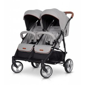 Tweeling wandelwagen - buggy Domino - grijs