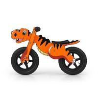 Houten loopfiets Dinosaurus oranje