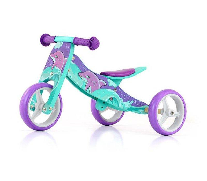 Verbazingwekkend Houten driewieler loopfiets Jake dolfijn - Baby en Kinderwereld UY-47
