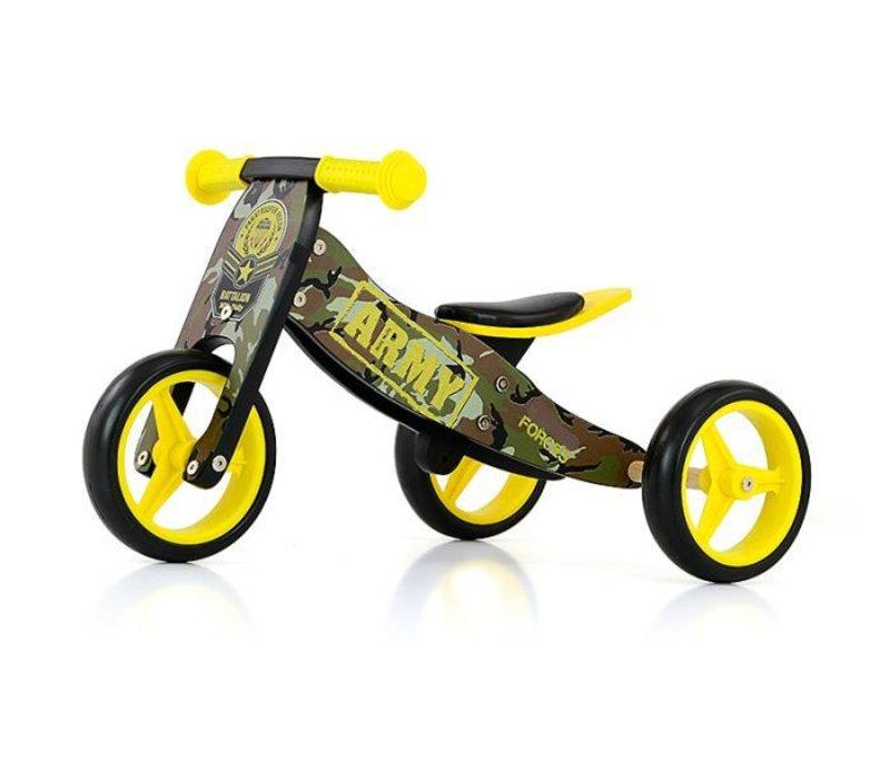 Wonderbaar Houten driewieler loopfiets Jake leger - Baby en Kinderwereld WM-01