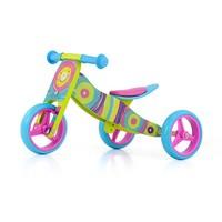 Houten driewieler loopfiets Jake regenboog