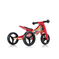 Houten driewieler loopfiets Jake rood