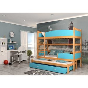 3-Persoons stapelbed Tina3 - els-blauw